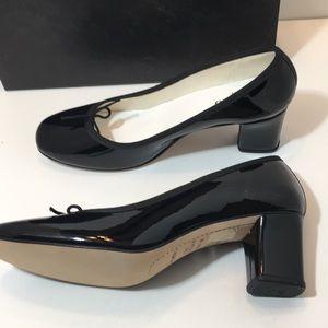 Repetto Paname Black Patent Leather Pumps Size 41